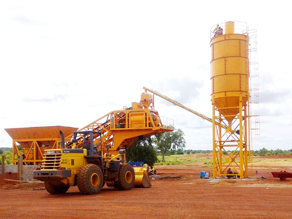 Mobile Type Ready Mix Concrete Batching Plant